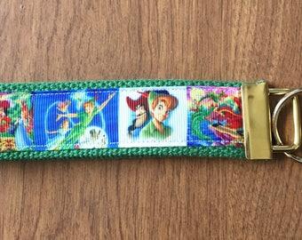 Peter Pan Key Chain Wristlet Zipper Pull