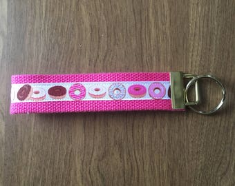 Donuts Key Chain Zipper Pull Wristlet