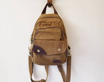 Vintage Small Canvas Backpack
