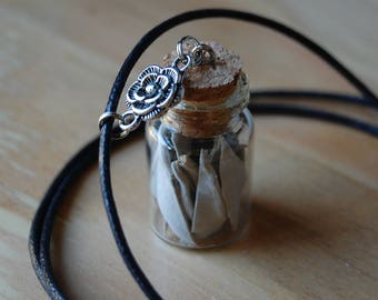 White Sage in a Bottle, Charm Necklace