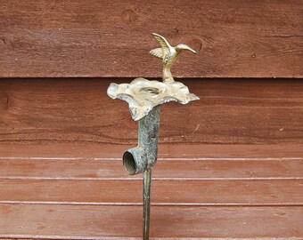 Lawn Sprinkler, Vintage Flower Sprinkler, Brass Flower Lawn Sprinkler. Vintage Garden Watering Sprinkler