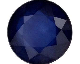 Blue Sapphire Diffused Loose Gemstone Round Cut 1A Quality 6mm TGW 1.00 cts.