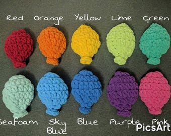 Crochet Reusable 'Water Balloons' - Single, Mix and Match Colors