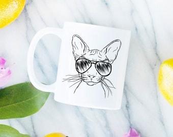 Sammy the Sphinx Cat Mug