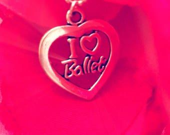 Ballet Necklace I Love Ballet