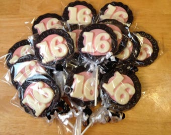 Sweet Sixteen Chocolate Favors