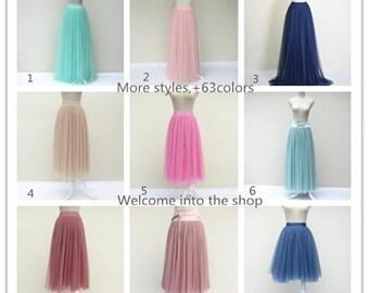 Summer women tulle skirt dress, adult tulle skirt women's tutu