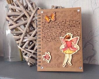 Handmade Fairy notebook / journal - wire bound A6 notebook - Teacher Gift - Student Gift - Birthday Gift