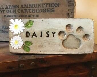 10 1/2 x 4 1/2  personalized pet memorial/pet marker/pet garden stone/pet memorial stone