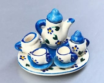 MidYear Sale15% Miniature Tea Set,Miniature English Tea Set,Miniature Coffee Set,Miniatue Chinese Tea set,Dollhouse tea set,Dollhouse coffee
