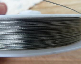 SET of 2 m stainless wire diameter: 0.3 mm stainless steel color