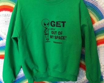 Vintage Roswell UFO Alien Sweatshirt