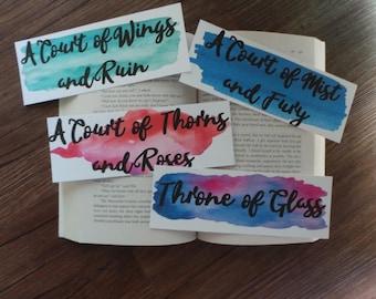 Sarah J. Maas Book Title Bookmarks