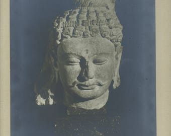 A Gandharan Buddhist sculpture - Vintage Photographic print.