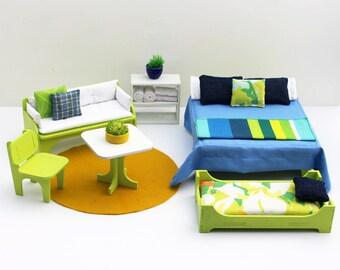 Starbeam 6-piece Furniture Set - Miniature Modern Decor, 1:12 scale