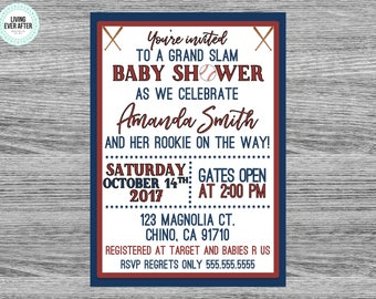 Baseball Baby Shower Invitation | 5x7 | File Download or Invites with Envelopes | Boy Baby Shower Ideas | Baby Baseball Party