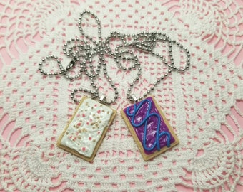 Toaster Pastry Necklace, Miniature Food Jewelry