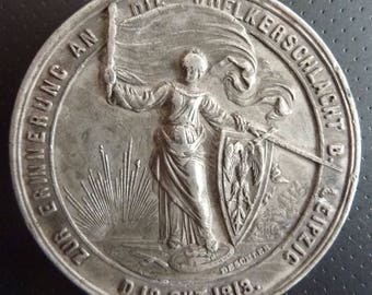 Prussian Historical Medal Of 1863 Commemorating The 50th Anniversary Of Battle Of Leipzig in 1813