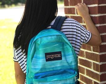 Monogrammed Jansport Superbreak Back Pack, Book Bag, Back to School, School Bag, Monogrammed Bag, Floral Bookbag
