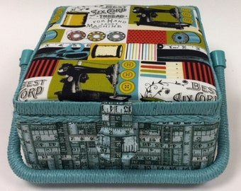 Sewing and Craft Basket - Sewing, Knitting Basket Box Bag