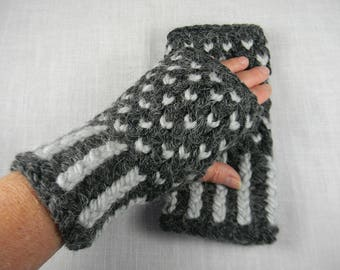Wrist Warmers, Hand Knit Fingerless Gloves, Hand Knit Fingerless Mittens, Arm Warmers