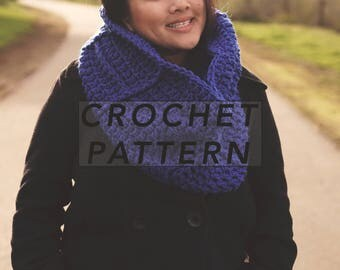 The Aston Cowl | crochet cowl | infinity scarf | crochet pattern | digital pattern | picture tutorial | instant PDF download
