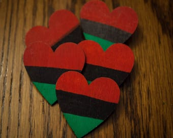 RBG Heart Wood Pin