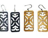 Tribal Rec Bamboo Earrings-Very Light KSE121009