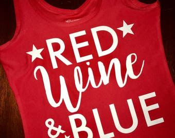 Red, Wine and Blue Tank