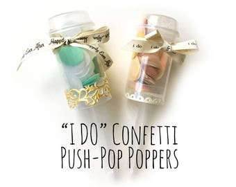 Wedding Confetti Poppers, Confetti Push Pops, Bridal Shower Decorations, Tissue Confetti Shooters, Party Decoration, Wedding Favors