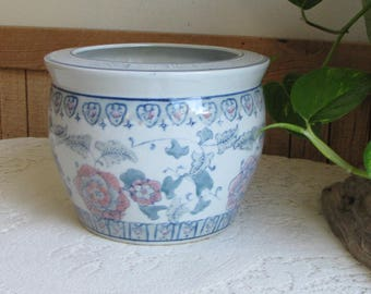 Asian Planter Vintage Indoor Planters and Pots Floral Designed Chinoiserie Plants and Succulents