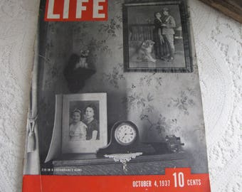 Life Magazines 1937 October 4 7:15 in a Legionnaire's Home Vintage Magazines and Advertising