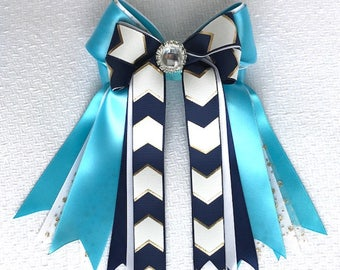 Equestrian Hair Bows/Elegant Equestrian Clothing, beautiful gift/Ready2Mail with elastic loops