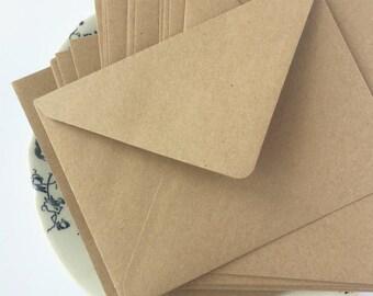"100 5x7 Kraft Envelopes A7 Envelopes Envelopes Bulk Rustic envelopes for wedding invitations card supplies True size 5.1/4x7.1/4"" 133x184mm"