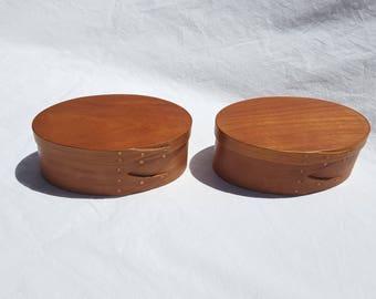 """Pair 2 Finger 4 3/4"""" Wood Shaker Box"""