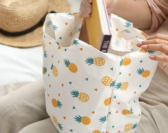 Waterproof = Pineapple Cotton Blended Waterproof Fabric by Yard