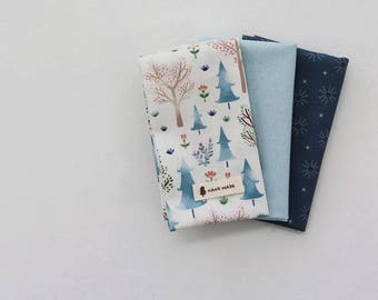 Blue Forest - Quarter Fabric Pack 3 Fabric 1set - Sets for 3 each 45 X 55 cm