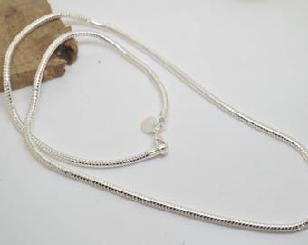 chain 50 cm snake 3 mm plated Silver 925 length 50 cm