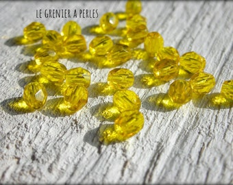 Faceted Bohemian lemon 4 mm X 50 * Citrine *.