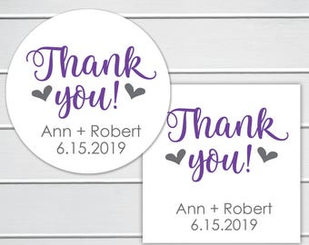 Thank You Stickers, Wedding Thank You Sticker, Wedding Stickers, Wedding labels (#265)