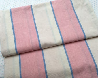 PIece of unused stripe fabric for projects crafts sewing patchwork crafts