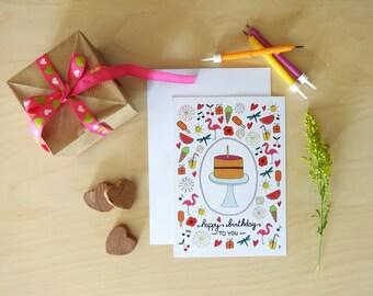 Birthday card to each season spring summer fall winter