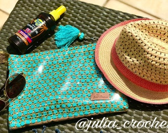 Crochet Waterproof Beach Purse.