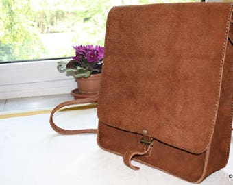 Shepherd's pouch, Simple holdall bag, Leather bag, Messenger bag, Leather shoulder bag, Old style bag, Leather tote bag