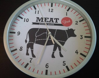 pattern pieces for the butcher kitchen wall clock