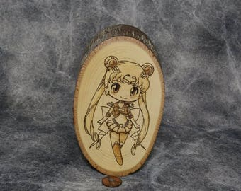 Sailor moon woodburning