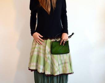 original green skirt