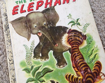 1974 The Saggy Baggy Elephant - A Little Golden Book