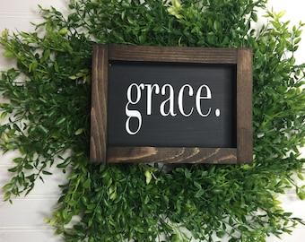 Grace Wood Custom Framed Sign