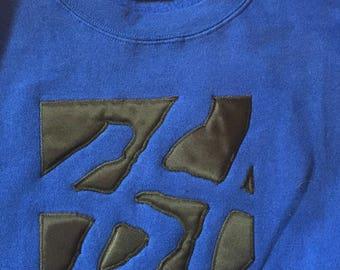 Vintage large logo Stussy sweatshirt // mens size L
